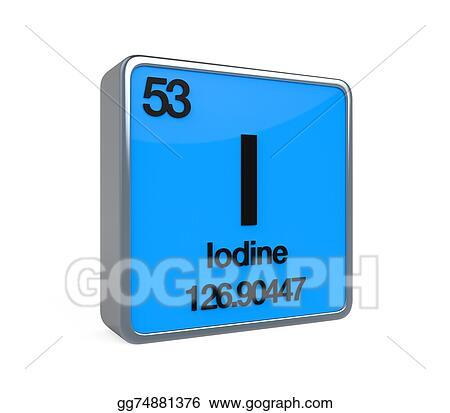 Clipart Iodine Element Periodic Table Stock Illustration