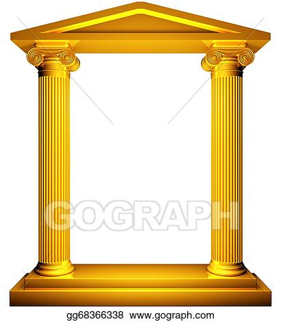 8aace0cb9812 Stock Illustration - Ionic gold frame. Clipart gg68366338 - GoGraph