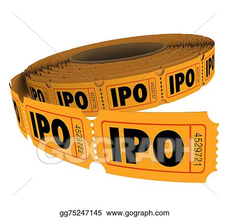 ipo initial public offering company business raffle ticket roll
