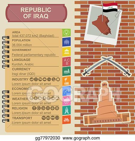 Vector Clipart - Iraq infographics  Vector Illustration gg77972030