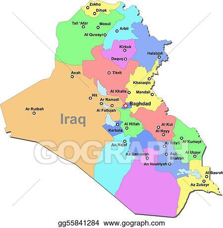 Clip Art Vector - Iraq map. Stock EPS gg55841284 - GoGraph