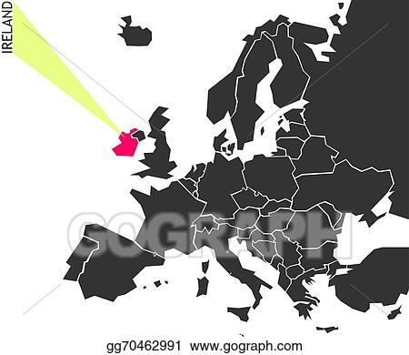 Vector Art Ireland Political Map Of Europe Clipart Drawing