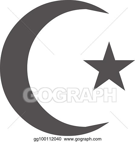 Vector Art Islamic Crescent Moon Icon Vector Simple