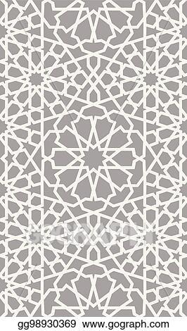 Eps Illustration Islamic Pattern Seamless Arabic