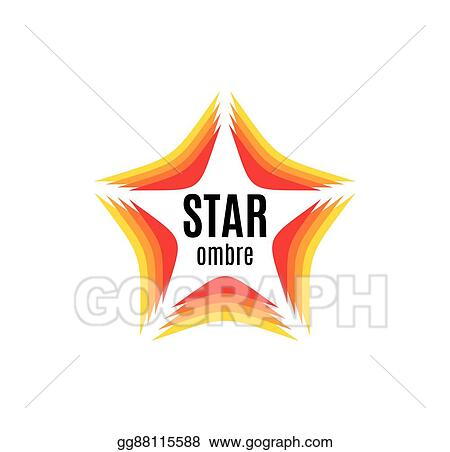 Vector Clipart Isolated Abstract Orange Color Star Contour