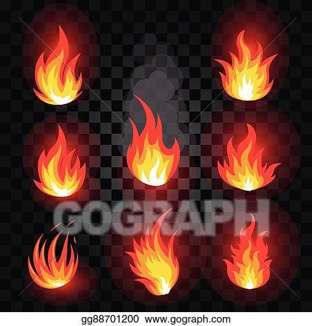 Vector Illustration - Isolated abstract red and orange color fire