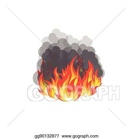 Vector Illustration - Isolated abstract red and orange color flame