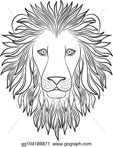 Vector Stock Isolated Black Outline Head Of Lion On White Background Line Cartoon King Of Animals Portrait Curve Lines Page Of Coloring Book Clipart Illustration Gg104189871 Gograph 2,000+ vectors, stock photos & psd files. https www gograph com clipart license summary gg104189871