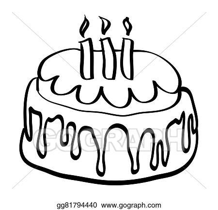Vector Stock Isolated Cartoon Birthday Cake Vector Illustration