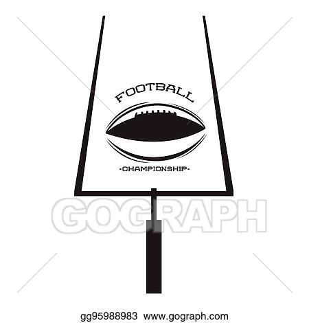 Eps Vector Isolated Football Goal Post Stock Clipart Illustration Gg95988983 Gograph