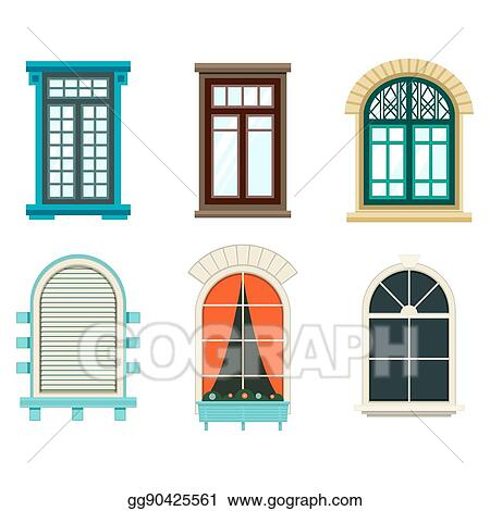 Vector Stock - Isolated open window with sash and frame. Stock Clip ...