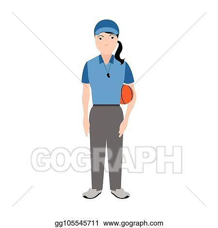 Vector Art Isolated Physical Education Teacher Avatar Clipart Drawing Gg105545711 Gograph