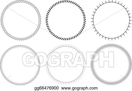 Vector Clipart - Isolated round circle frames . Vector Illustration ...