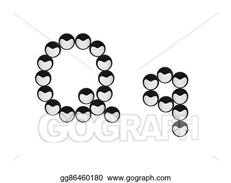 Drawing Isolated Seeds Of Love Alphabet Letter Q Clipart Drawing