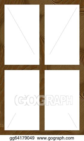 Stock Illustration - Isolated window frame 4w flat. Clip Art ...