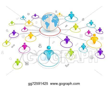 3D Social Networking Clip Art