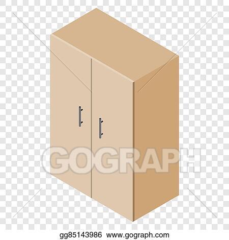 Stock Illustration Isometric Cupboard Wardrobe Clipart