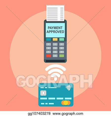 Vector Illustration - Isometric pos terminal confirms the payment by
