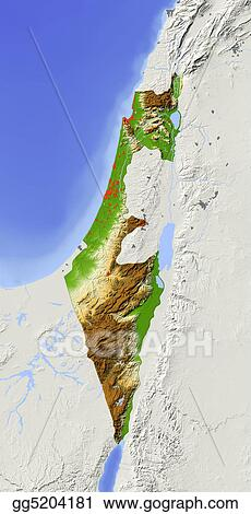 Drawing israel shaded relief map clipart drawing gg5204181 gograph israel shaded relief map gumiabroncs Images