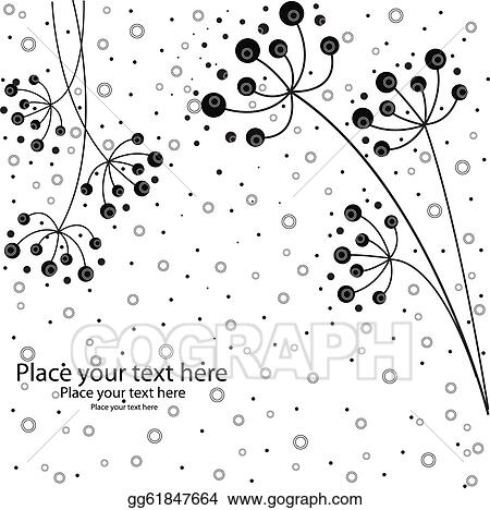 Vector Art It Is Black White Flowers Clipart Drawing Gg61847664