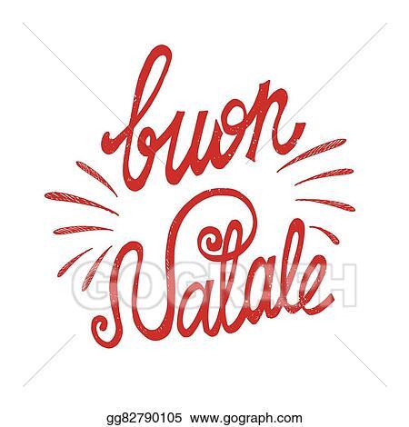 Buon Natale 105.Vector Stock Italian Christmas Clipart Illustration Gg82790105