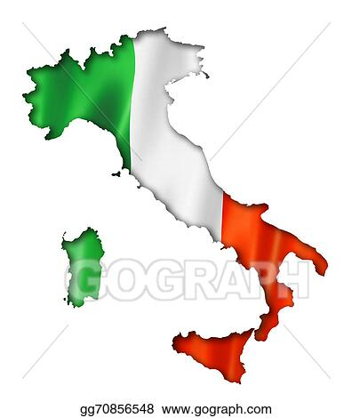 Drawing Italian Flag Map Clipart Drawing Gg GoGraph - Italian map