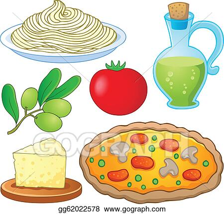vector art italian food collection 1 clipart drawing gg62022578 rh gograph com Italian Food Clip Art and Backgrounds italian food clipart black and white