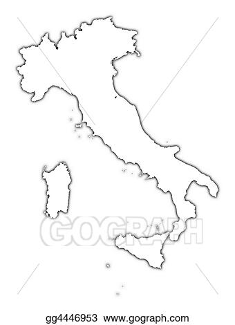 Map Of Italy Outline.Drawings Italy Outline Map Stock Illustration Gg4446953 Gograph