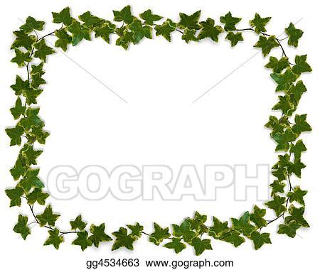 stock illustration ivy border or frame clipart gg4534663 gograph