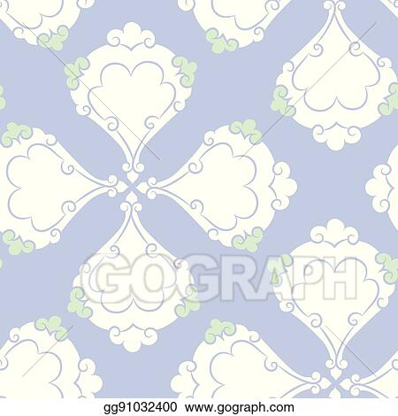 Vector Art - Iznik ceramic tiles floral pattern. EPS clipart ...