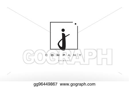 Eps Vector J Hand Writing Letter Company Logo Icon Design Stock