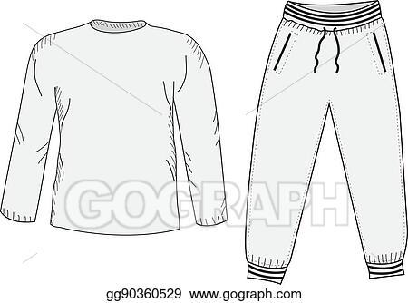 0d75f0372242 Vector Illustration - Jacket and sweatpants. tracksuit