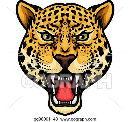 eps vector jaguar head isolated cartoon mascot design stock rh gograph com jaguar clipart black and white jaguar clip art black and white