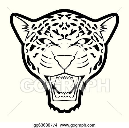 vector clipart jaguar vector illustration gg63638774 gograph rh gograph com jaguar clipart jaguar car clipart