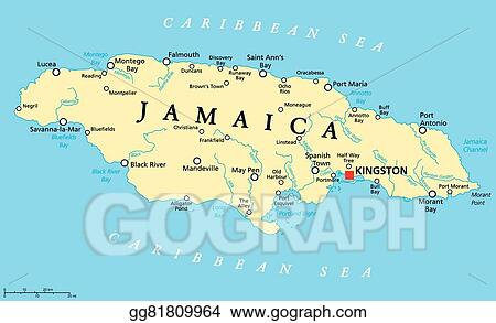 EPS Illustration - Jamaica political map. Vector Clipart gg81809964 on managua nicaragua map, yallahs jamaica map, montego bay jamaica map, guadalajara mexico map, san juan puerto rico map, tegucigalpa honduras map, belo horizonte brazil map, santiago chile map, charleston jamaica map, havana cuba map, lima peru map, st. ann jamaica map, buenos aires argentina map, manchester parish jamaica map, panama city map, bogota-colombia map, caracas map, denham town jamaica map, jamaica capital map, montevideo map,