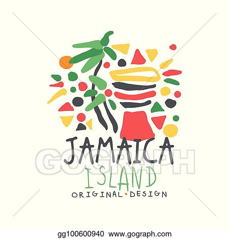 405410fb1ef98 Vector Stock - Jamaica summer vacation colorful logo. Clipart ...