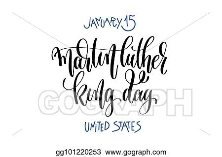Vector Illustration January 15 Martin Luther King Day United