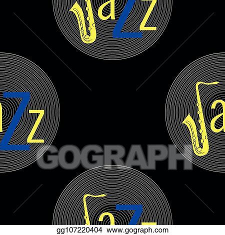 Vector Art Jazz Concept Vinyl Record And Word Jazz Letter J