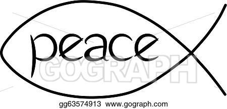 vector clipart jesus peace fish vector illustration gg63574913 rh gograph com Jesus Fish Border White Jesus Fish