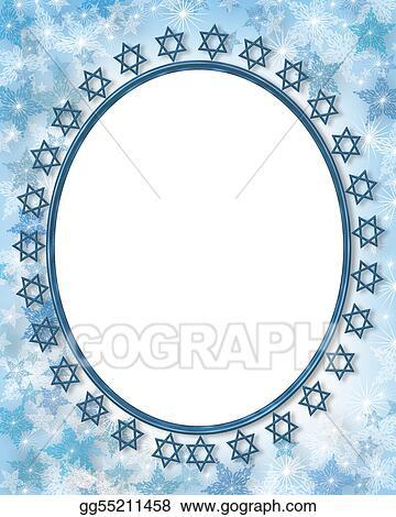 Stock Illustration - Jewish star photo frame border. Clip Art ...