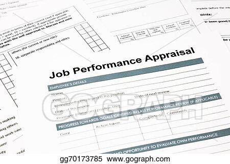 Stock Photo  Job Performance Appraisal Form For Business Stock