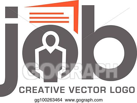 Eps Illustration Job Search Logo For Application Vector Clipart