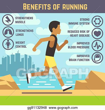 Vector Illustration Jogging Man Running Guy Fitness Exercise Lifestyle Cartoon Vector Concept Eps Clipart Gg91132948 Gograph