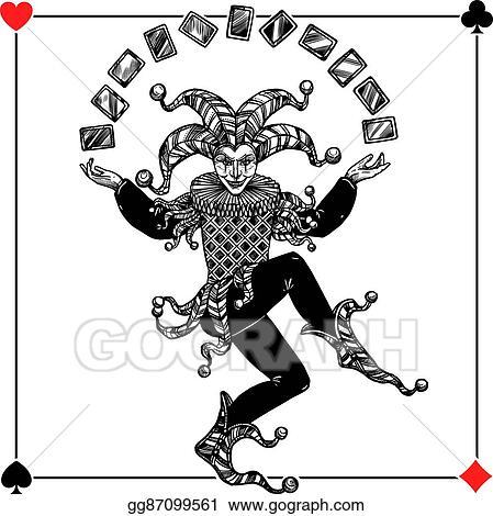 spade card joker  Vector Illustration - Joker background illustration. EPS ...
