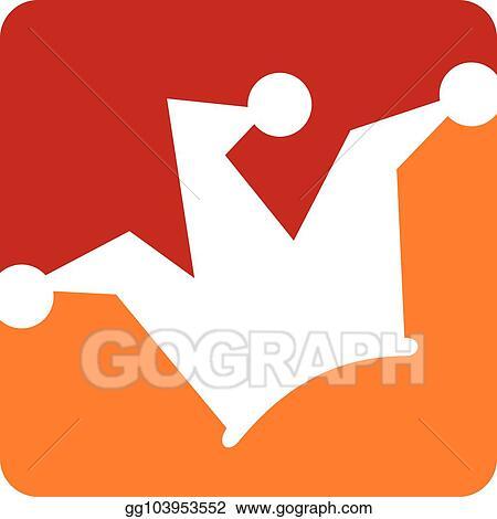 vector illustration joker hat logo design template vector eps