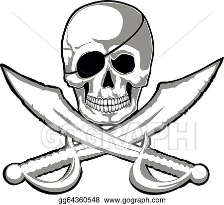 vector stock jolly roger stock clip art gg64360548 gograph rh gograph com jolly roger flag clipart