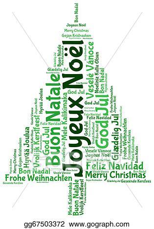 Joyeux Noel Clipart.Stock Illustration Joyeux Noel 2014 In Tag Cloud Clipart