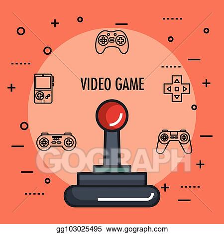 Vector Stock Joystick Gamepad Icon Video Game Controller Symbol