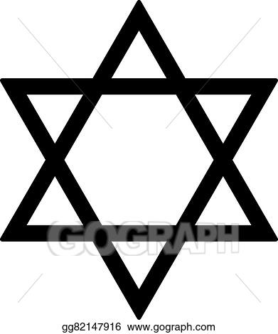 Clip Art Vector Judaism Star Stock Eps Gg82147916 Gograph