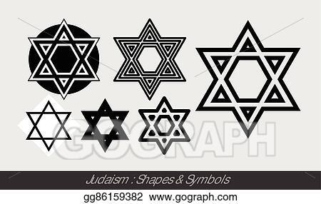 Vector Clipart Judaism Symbols Vector Illustration Gg86159382